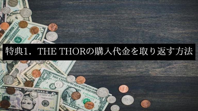 THE THOR(ザ・トール)特典1.テーマの購入代金を取り返す方法
