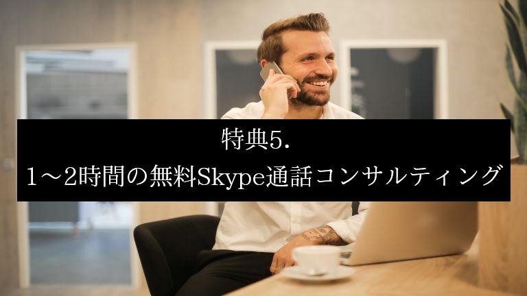 THE THOR(ザ・トール)特典5.無料Skype通話コンサルティング